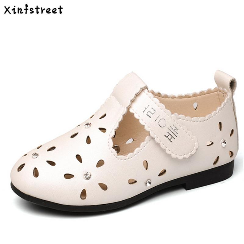 Xinfstreet lasteprintsessijalatsid tüdrukute kingad väljalõigatud lillega hingavad armsad väikesed lastekingad tüdrukutele Suurus 21-36