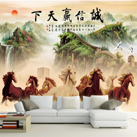 beibehang papel de parede para quarto Custom wallpaper Honesty wins the world horse to the success of the lobby office backdrop
