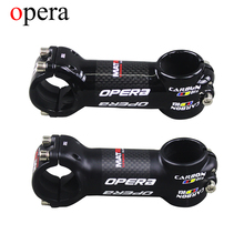OPERA Aluminum alloy Carbon Stems Cycling Mountain Bikes Stem Package Carbon Road Bicycles 3K Glossy/matte Black 6 Degree Stems()