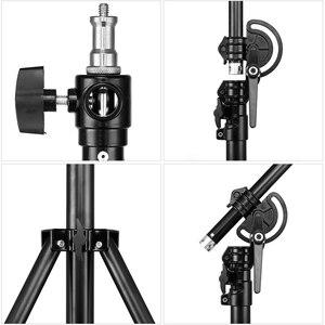 """Image 5 - Soporte de luz 2 en 1 de 126 """"y 320cm, brazo de soporte, soporte de luz de brazo de trípode ajustable de aluminio giratorio con bolsa de arena para fotografía de estudio"""