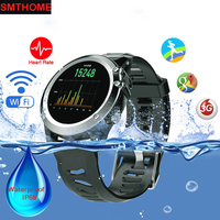 Impermeable deportes al aire libre Smart Watch H1 mtk6572 Dual Core OS Android 5.1 apoyo 3G tarjeta SIM GPS WiFi Brújulas fitness tracker
