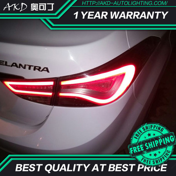 AKD tuning cars Tail lights For Hyundai Elantra 2012-2016 Taillights LED DRL Running lights Fog lights angel eyes Rear parking