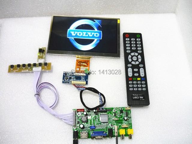 HDMI+2AV+VGA+Rear View Driver Board+USB  7 -inch Control panel 1024 * 600 .On-board DYI kits