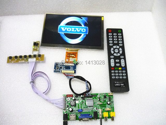 HDMI AV + VGA + Achteruitrijcamera Driver Board + USB 7-inch bedieningspaneel 1024*600. On-board DYI kits