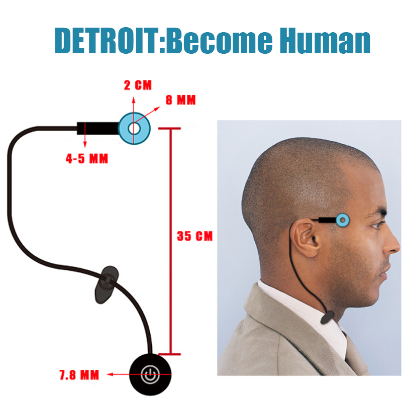 Hot Game Detroit : Become Human Cosplay Connor RK800 Temple Led Light Halloween Party temporal Status Light Props
