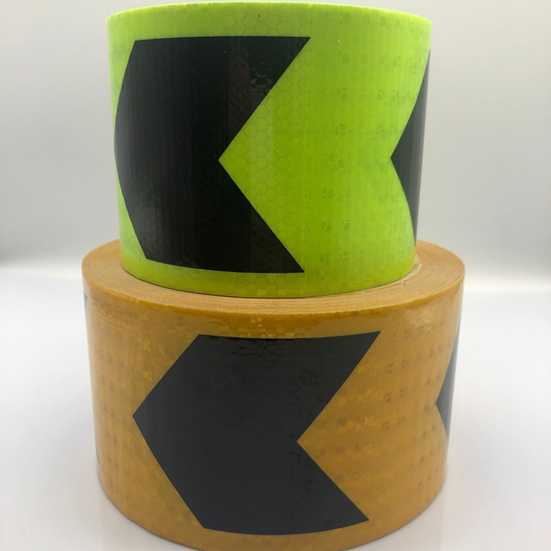 10cmx10m Reflective Tape Stickers Car Styling Self-adhesive Tape PET Engineering Grade Barrier Trailer Tape