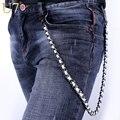 U7 pesado cintura gunmetal punky de la roca del motorista cartera llavero pantalones Hombres Pantalón De Cuero de la Joyería de HipHop Jean Cadenas de Motocicleta Caliente 003