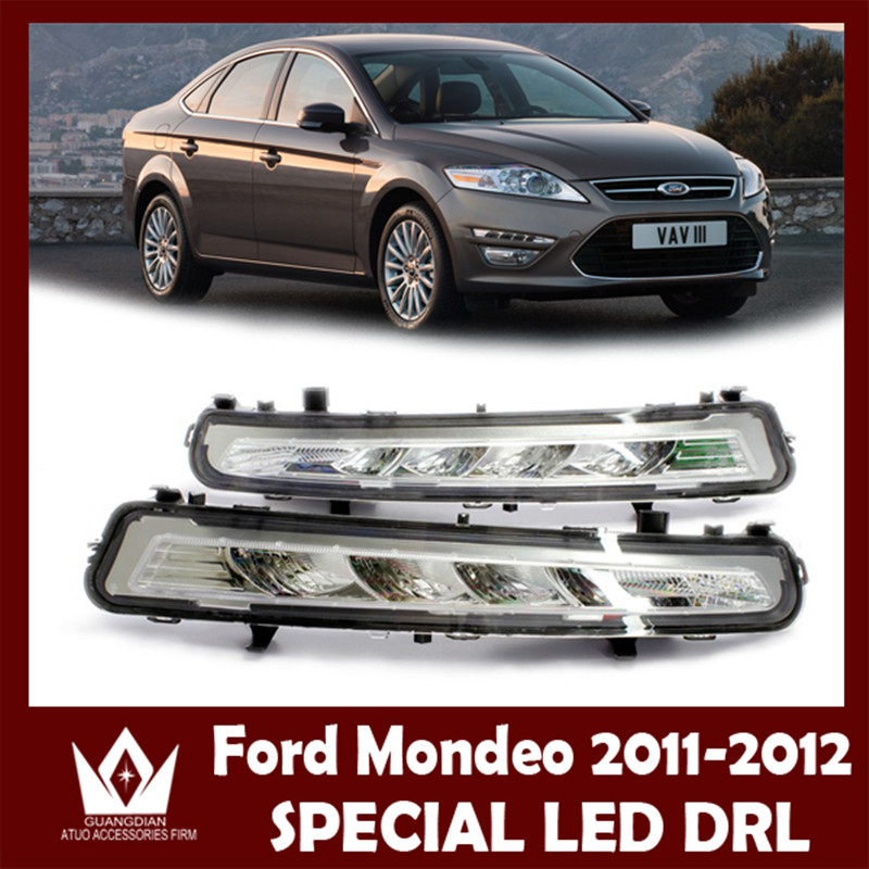 Nightlord  2x LED DRL Driving Daytime Running For 2010~2013 for Ford MONDEO Day Fog Lamp Light free ship wljh 2x canbus no error led p21w 1156 ba15s drl driving daytime running fog lamp light for vw sagitar jetta mk6 2011 2012 2013