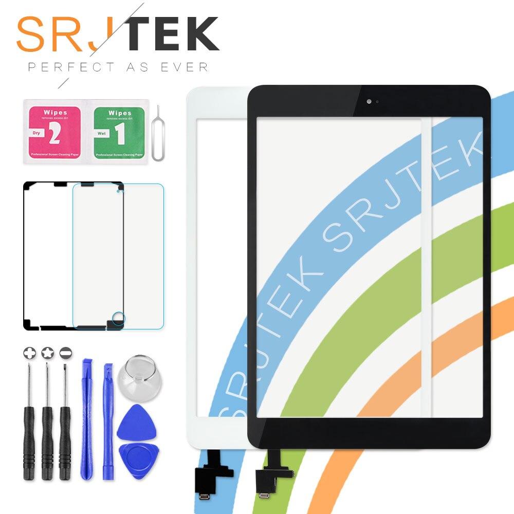 Touch Screen Per iPad Mini 3 Mini3 A1599 A1600 A1601 7.9 di Tocco del Sensore Digitizer con IC Connettore Parti Tablet PC nessun Tasto della Casa
