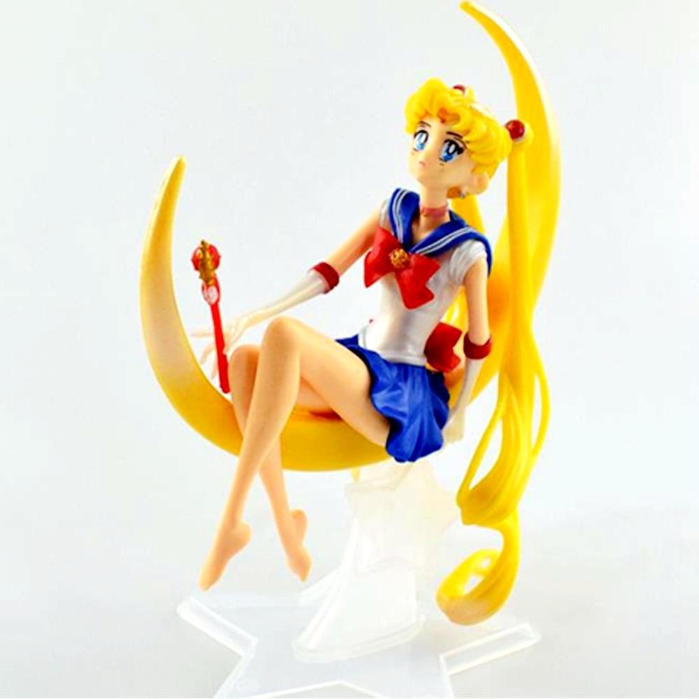 Sailor Moon Sitting Postures Luna Sailor PVC Figure Decoration Cup Cover
