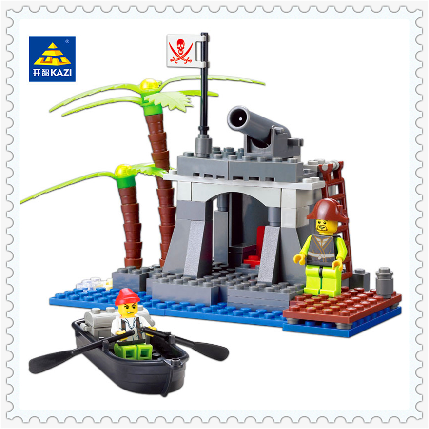 128Pcs Building Block Compatible Legoe Toys Caribbean Pirate Ship Boat Model KAZI 87013 Figure Brinquedos Gift For Children 2017 new lepine pirate ship imperial warships model building kits block briks toys gift 1717pcs compatible lele 10210