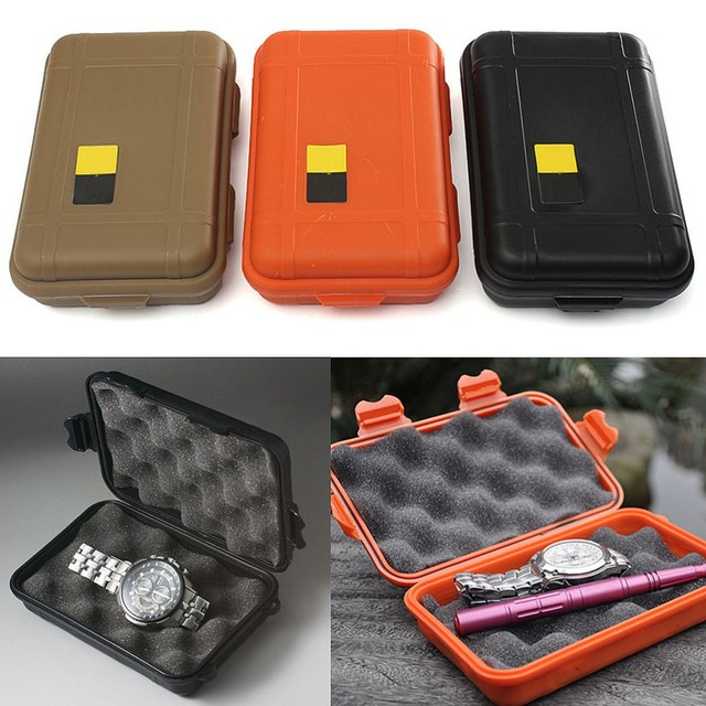1Pc  L/S Size Outdoor Plastic Waterproof Airtight Survival Case Container Safety Camping Outdoor Travel Storage Box