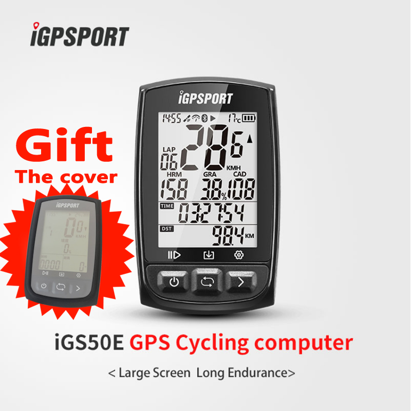 iGPSPORT Large screen long battery life wireless odometer iGS50E bicycle gps bike computer антифриз peak long life 50 50 g12 10л red
