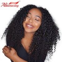 Али удивительные волосы кружева перед парики человеческих волос предварительно сорвал натуральных волос с ребенком волос 250 плотность бра