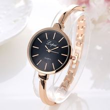 Women Fashion Simple Bracelet Watches 6 Color Wristwatch Quartz For H