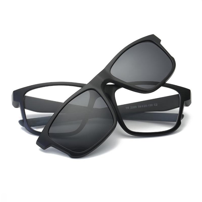 width-144 New magnetic set mirror men TR90 frame Sports myopia sunglasses fashion polarized Night Vision Goggle