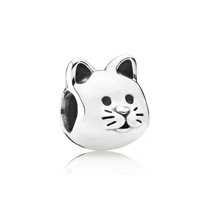 New Fashion Small Cats Charms Beads Fit Pandora Bracelets & Bangles for Women Silver Color Birthday Gifts DIY Jewelry Bijoux(China)