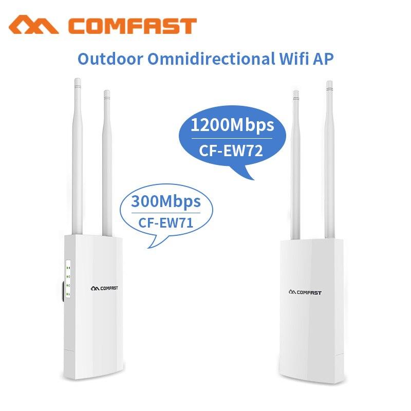 300-1200 Mbps Extérieure Sans Fil WIFI Routeur Répéteur Point D'accès 48 v Poe 802.11ac Antenne Wifi Couverture Booster Extender RJ45 AP