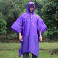 Impermeable multifuncional Universal hombres transparente Impermeable mujeres mochila Poncho lluvia capa cubierta Impermeable senderismo