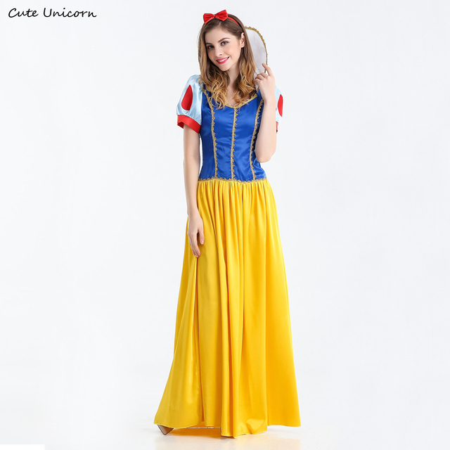 Snow White Princess Adult Costume for women Halloween party Carnival Cosplay Costumes girls dress Fantasias Feminina  sc 1 st  AliExpress.com & Snow White Princess Adult Costume for women Halloween party Carnival ...