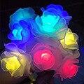16ft 20 LED de energía Solar Luz De La Navidad Impermeable Rosa de Hadas de la Secuencia Solar Luces de Jardín, Patio, boda, Fiesta de navidad