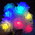 Solar Powered Christmas Light 16ft 20 LED Waterproof Rose Solar Fairy String Lights for Garden, Patio, Wedding, Party  Holiday