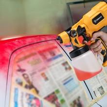 DEKO DKCX01 Spray Gun, 550W 220V High Power Home Electric Paint Sprayer, 3 Nozzle Easy Spraying and Clean Perfect for Beginner