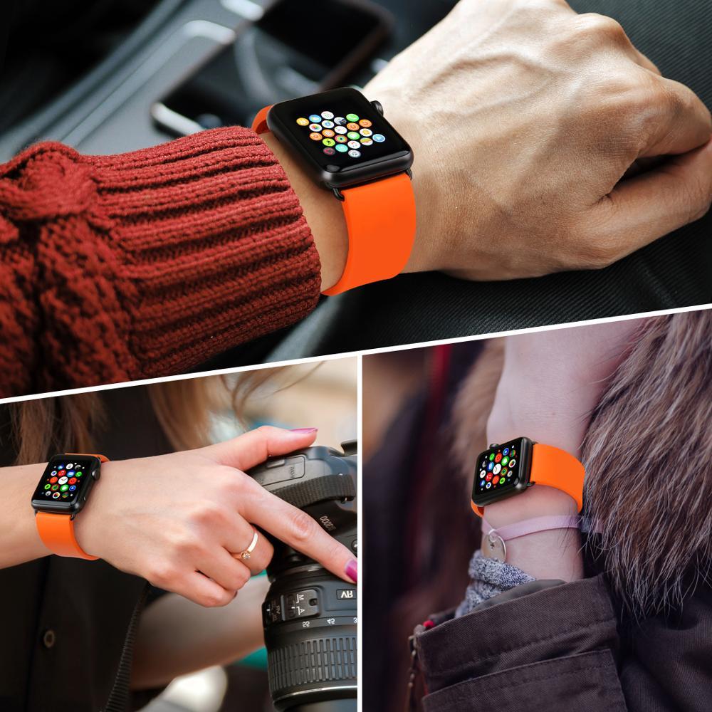 Pasek do zegarka MAIKES Sport Watchband Akcesoria do zegarków Apple - Akcesoria do zegarków - Zdjęcie 5