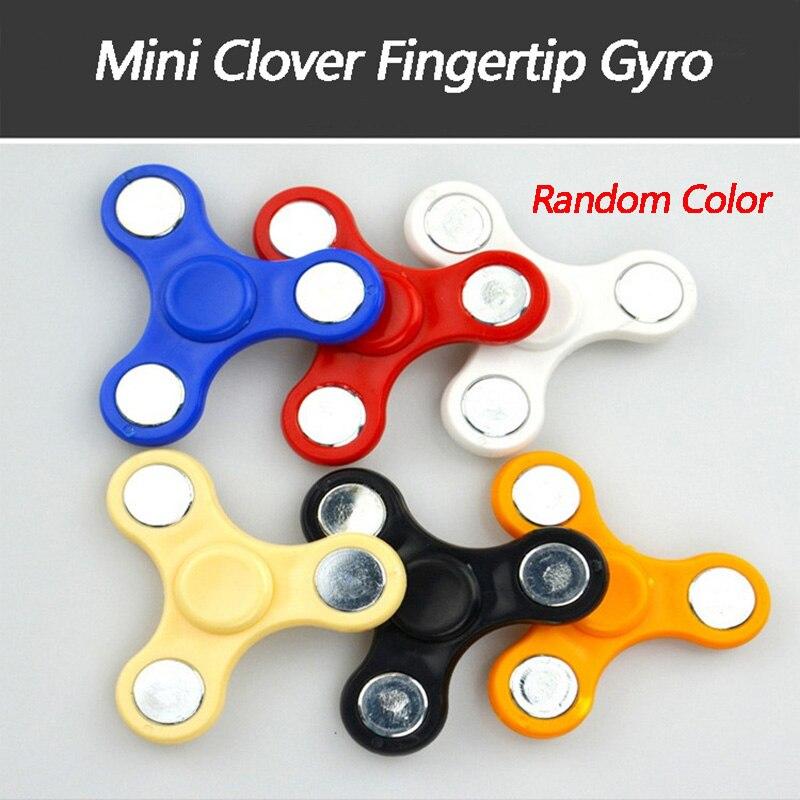 Mini Finger Gift Gyro Fingertip Gyro Clover Decompression Toy Childrens Finger Rotation Hand Spinner Fidget Gyro Handspinner