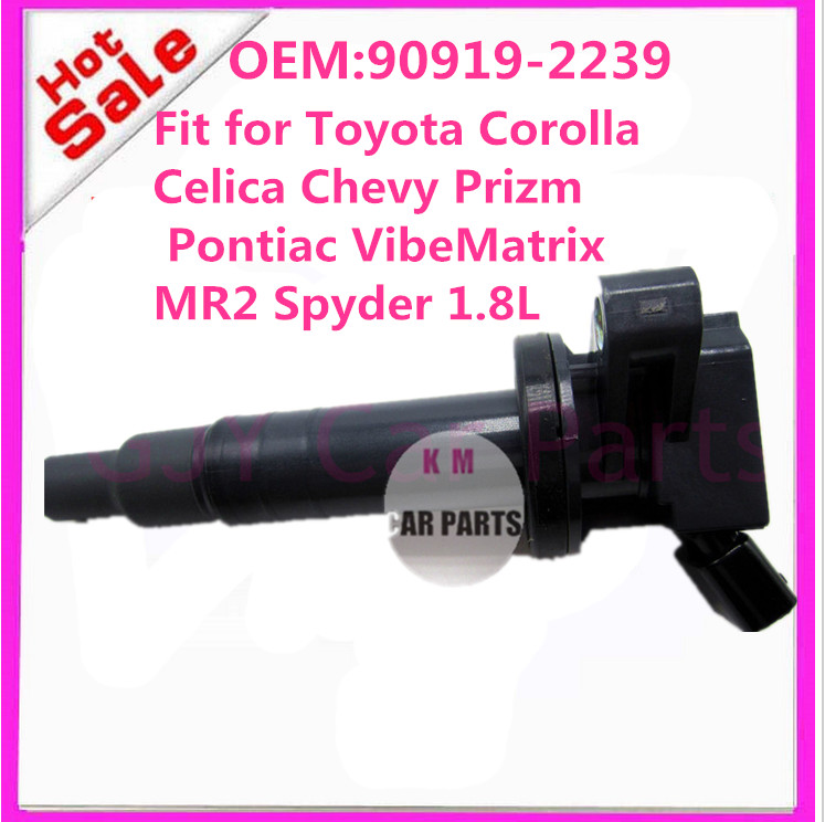 CHINA GOOD QUALITY IGNITION COIL PACK 90919-02239 9091902239 for Toyota Corolla Celica Chevy Prizm PontiacMatrix MR2 Spyder 1.8