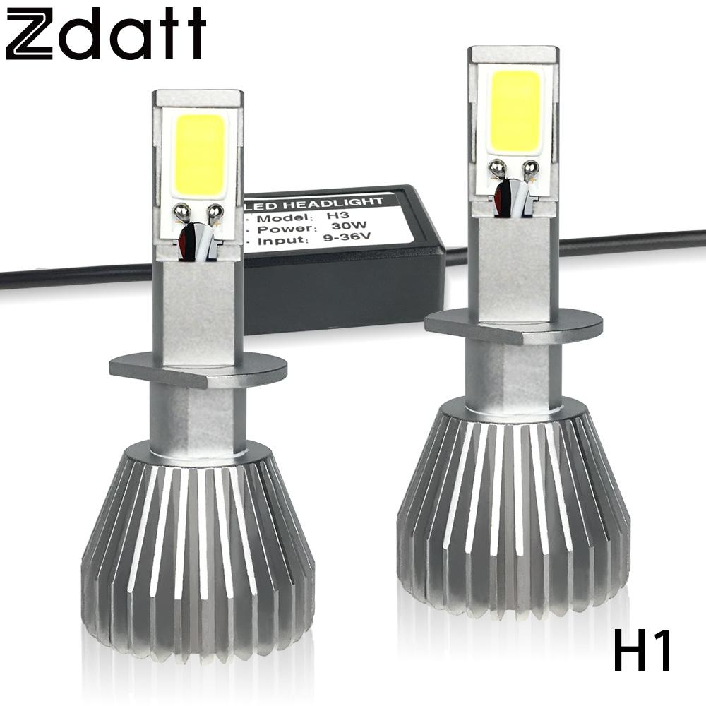 Prix pour 2 Pcs Super Lumineux H1 Led Ampoule 60 W 6000LM Phares De Voiture LED Lumières 6000 K Blanc Automobiles 12 V Feux Diurnes Lumière de Brouillard lampe