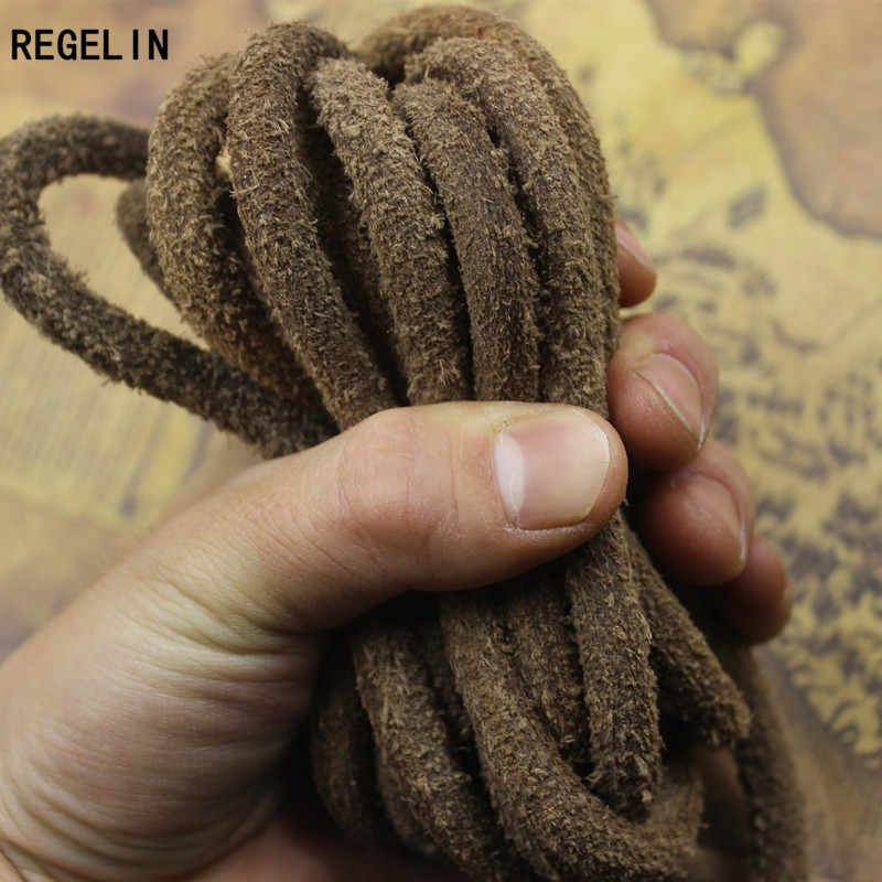 REGELIN Genuine Cow Leather Cord Brown Bracelet Cord 2meters/lot 3/4/5/6/8mm DIY Bracelets Necklace Making Jewelry Accessories