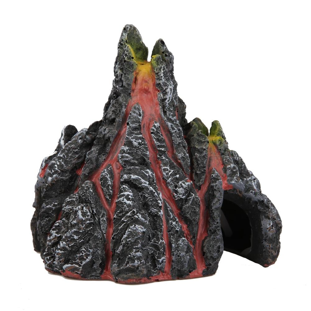 Fish tank volcano - Volcano Pump Aquarium Fish Tank Volcano Shape Air Bubble Stone Oxygen Pump Aquarium Fish Tank Landscaping