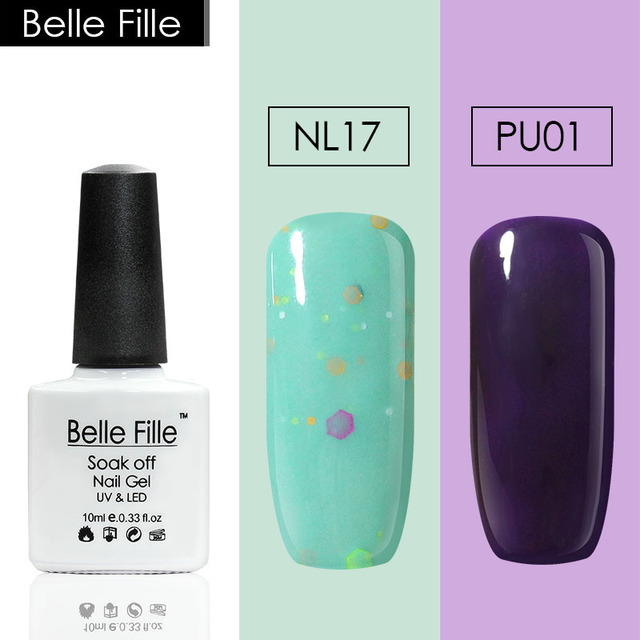 Belle Fille 2PCS 10ml Cheese Orange Green Nude Color Nail Polish Wedding Birthday Party Decoration Gel