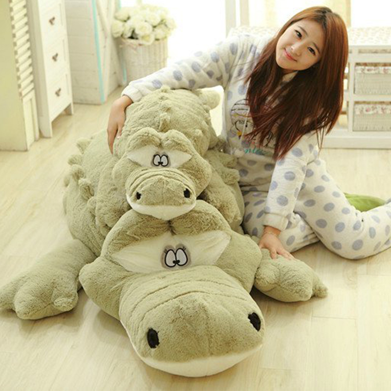 80cm Crocodile costume alligator stuffed animals pillow dinosaur plush giant stuffed animals cushion pillow soft stuffed toys 55cm new arrival stuffed animals big size simulation crocodile plush toy cushion pillow toys for adults 1piece
