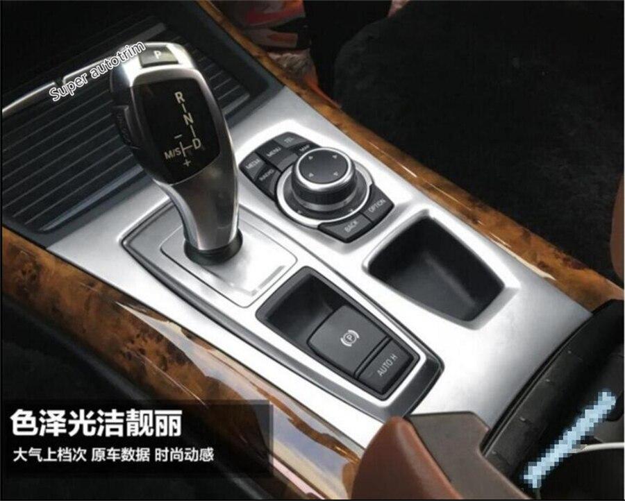 High Quality For BMW X5 E70 2009 - 2013 / X6 E71 2010 - 2014 Stalls Gearshift Transmission Shift Gear Knob Panel Cover Trim high quality interior for hyundai sonata sedan 2015 2016 2017 abs transmission shift gear panel frame cover trim 1 pcs