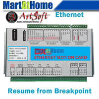 Ethernet 2MHz Mach3 CNC 3 Axis Motion Control Card Resume From Breakpoint For Lathes Mills Routers