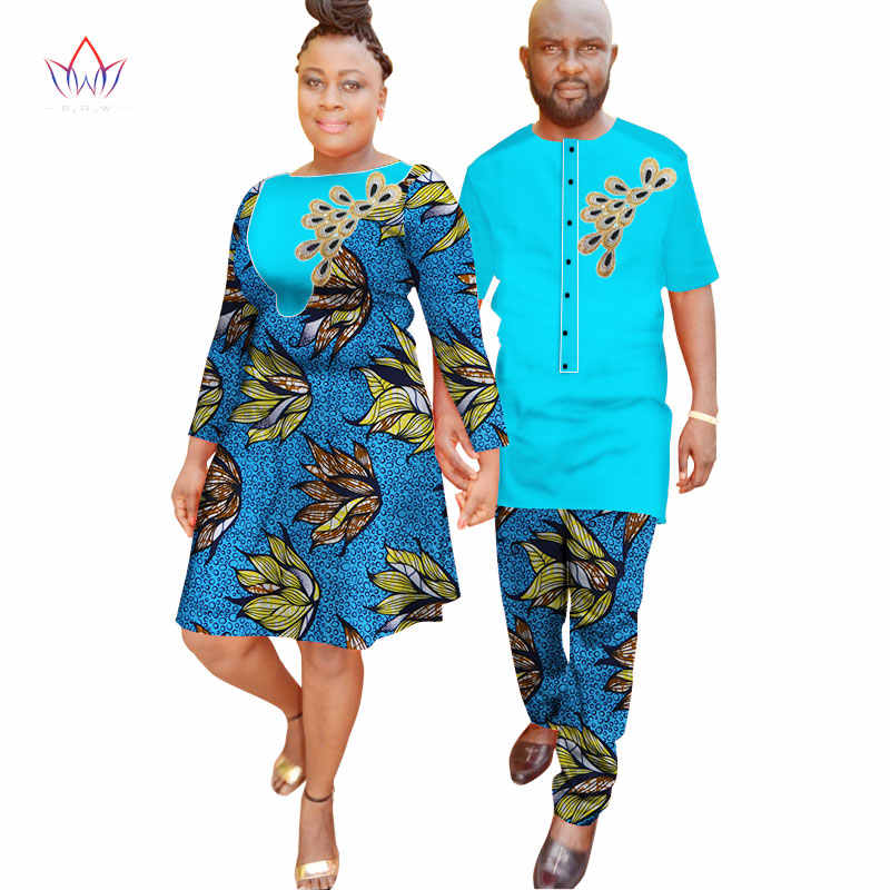 46aca937f7 ... New Lovers Womens Mens African Clothing Two Sets Matching Couples  Clothes long Sleeve summer wedding a ...