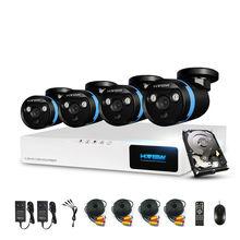 H. View 8ch Sistema de Cámaras de Seguridad CCTV Sistema de 4×1080 P Cámara DEL CCTV Kit Sistema de Cámaras de Vigilancia de Seguridad casa 1 TB HDD