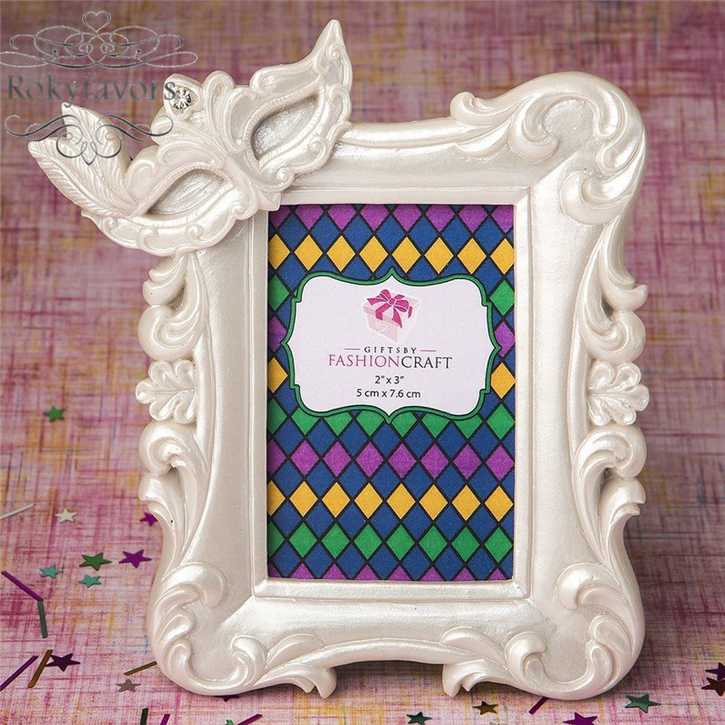Free Shipping 10pcs Mardi Gras Masked Theme Picture Place Card Frame