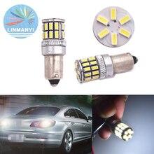цена на 2PCS BA9S Car Led T4W W5W 4014 30SMD BA9S Side Turn Signals Reverse Lights Marker Lamps Instrument lights door lights 12V White