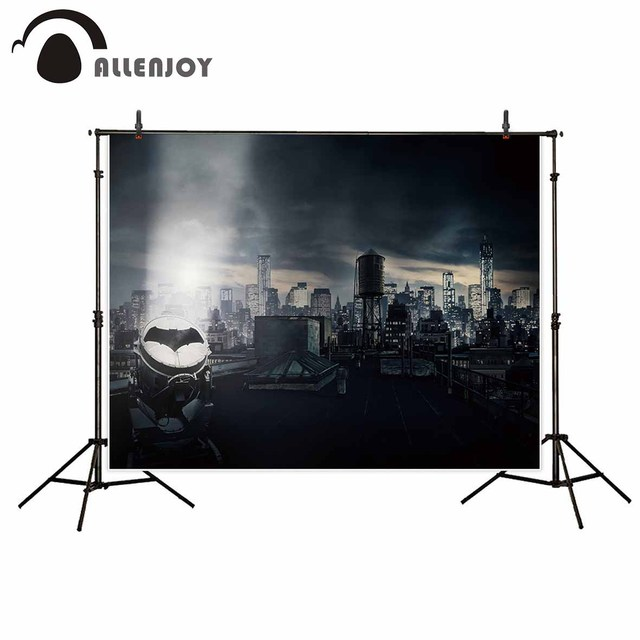 Allenjoy photography Batman background dark city building super hero backdrops photocall boda photo studio photozone vinyl