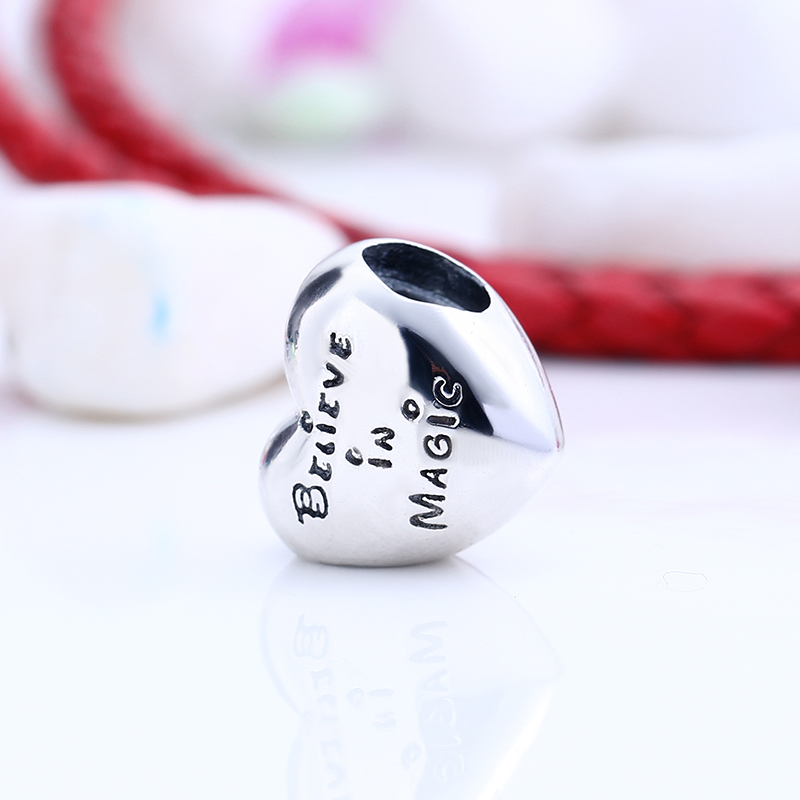 Authentic 100% 925 Sterling Silver Fit Original Pandora Bracelet Enamel Mickey Minnie Heart Love Charm Beads for Jewelry Making