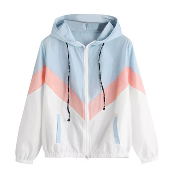 Women's Hooded Jackets 2019 Summer Causal windbreaker Women Basic Jackets Coats Sweater Zipper Lightweight Jackets Famale z0528