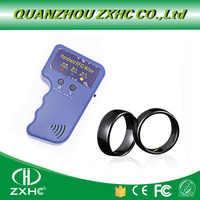 NEUE Handheld 125 KHz EM4100 RFID Kopierer Writer Duplizierer Programmer Reader + ID125Khz RFID Schwarz Keramik Smart Finger Ring Tragen