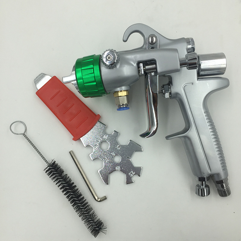SAT1189 nano chrome painting high pressure airbrush double action pneumatic sprayer double nozzle spray gun pneumatic tool стоимость