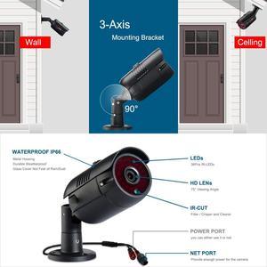 Image 2 - ANRAN 1536P HD 4CH POE Outdoor Wasserdicht Überwachungs System Nachtsicht IP Kameras Kits CCTV System Für Home