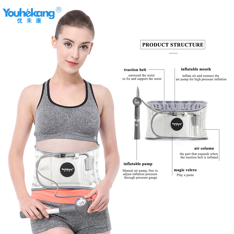 Youhekang Medical Decompression Belt Lumbar Support Disc Herniation Belt Therapy Traction Device Waist Muscle Strain Relief in Braces Supports from Beauty Health