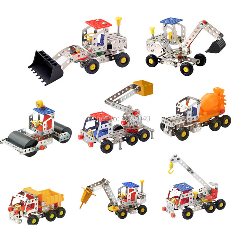 New small metal assembled building block plot iron toy disassembly education iron construction vehicle model creativity gift ksb metal construction toys metal model assembly puzzle building block set construction vehicle