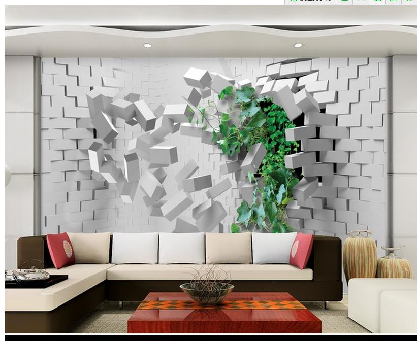 Free shipping modern wall 3d murals wallpaper hd 3d for 3d mural wall art